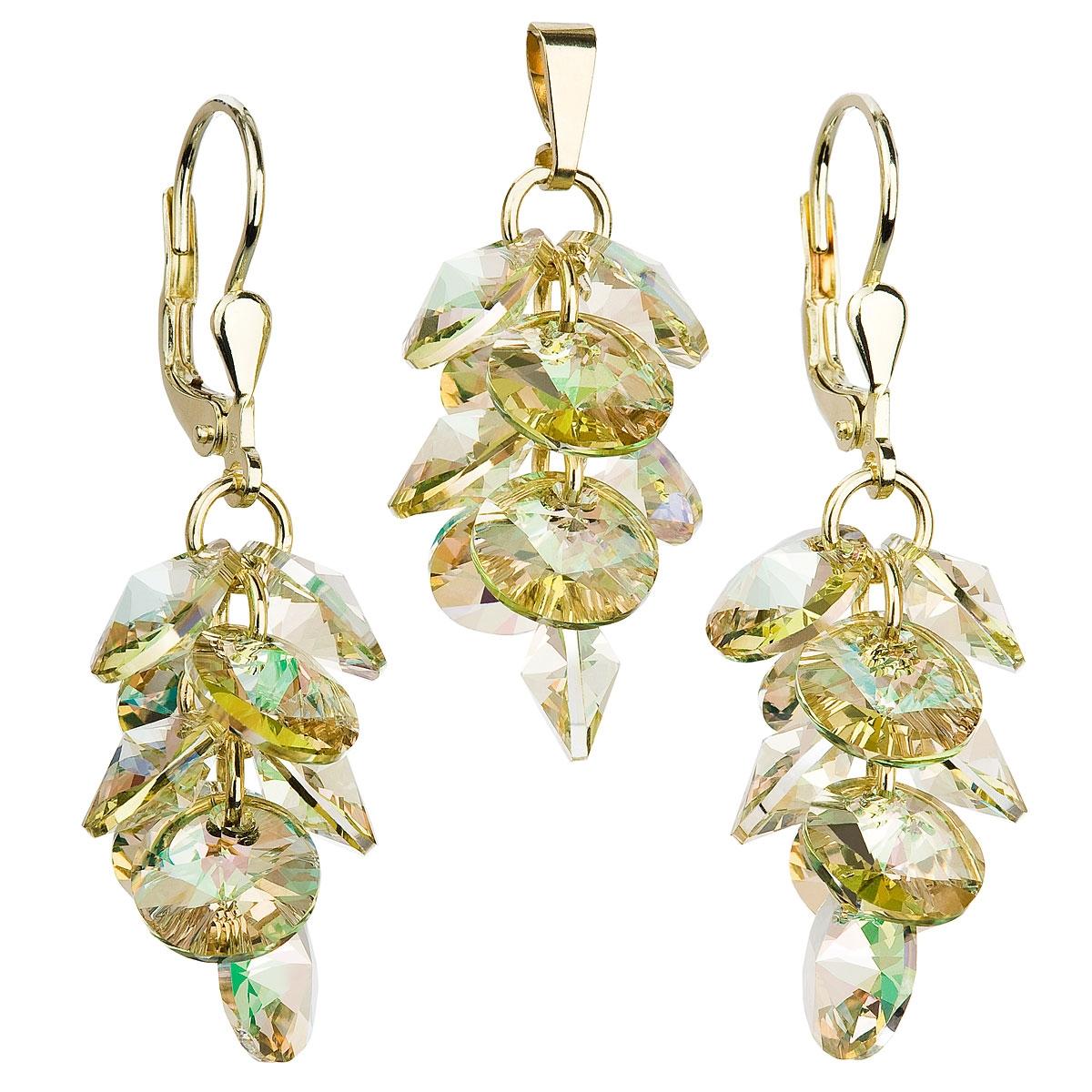 Sada zlacených šperků - hrozen s kameny Crystals from Swarovski® EG3038-GD