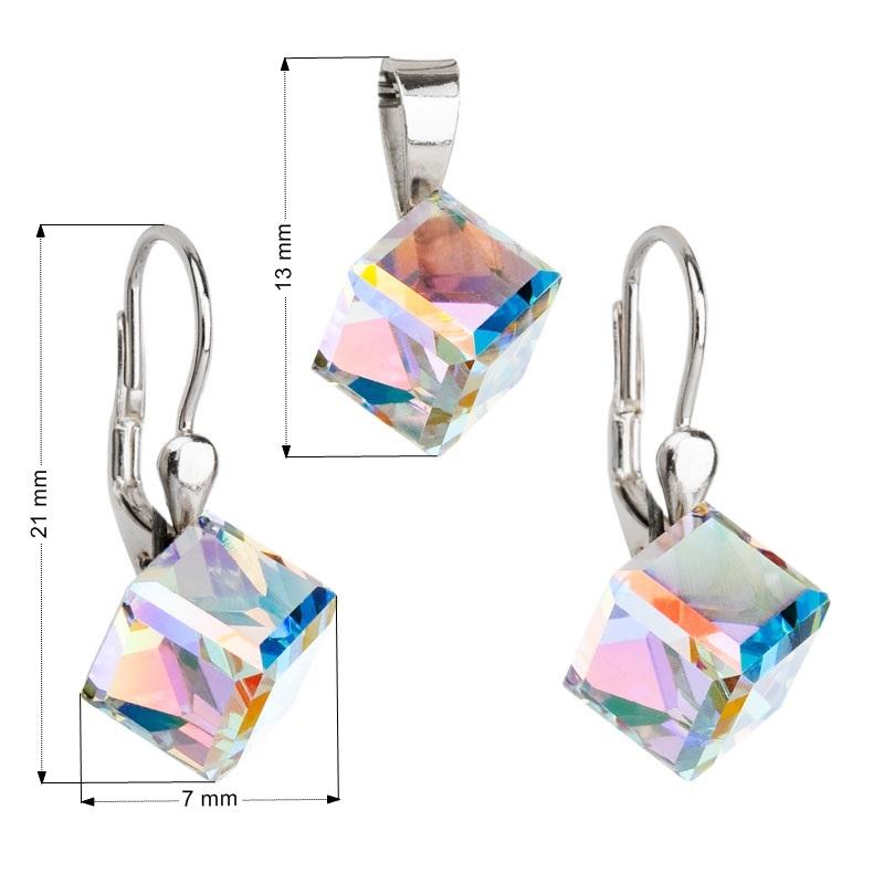 Sada šperků kostky Crystals from Swarovski® AB EG3041-AB