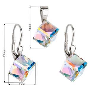 Sada šperků kostky Crystals from Swarovski® AB