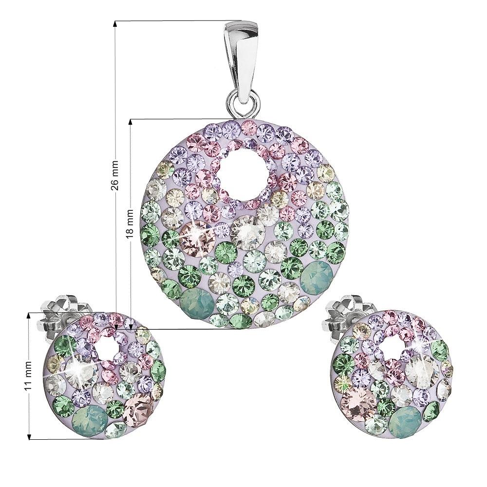 Sada náušnic a přívěšku s kamínky Crystals from Swarovski® Sakura