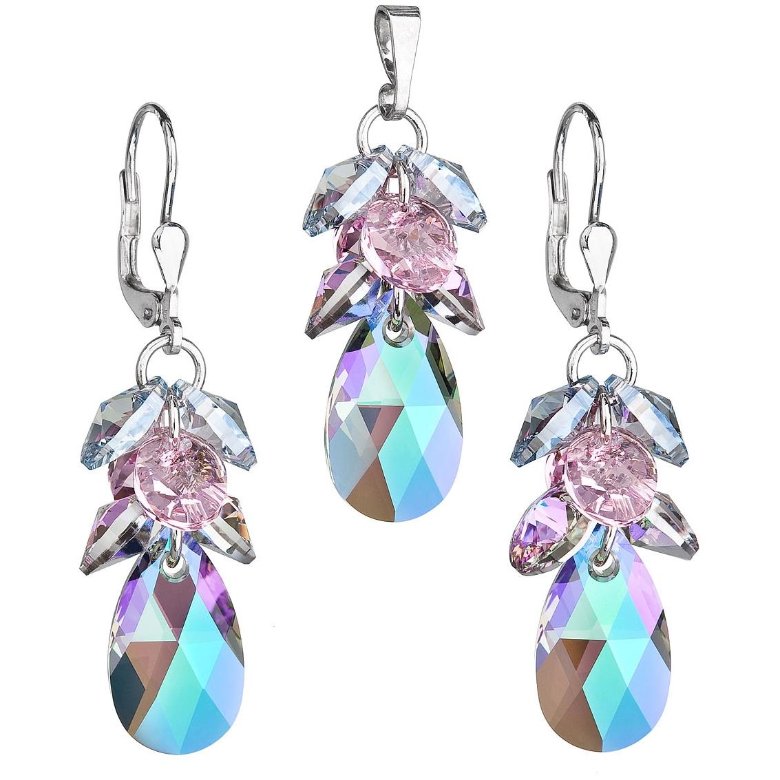 Sada náušnic a přívěšku hrozen Crystals from Swarovski® Paradise Shine