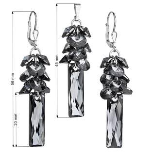 EVOLUTION GROUP CZ Sada stříbrných šperků Crystals from Swarovski® Grey - 39124.5