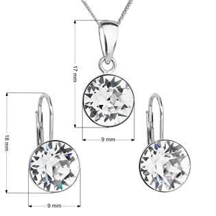 Sada stříbrných šperků s kameny Crystals from Swarovski® Crystal