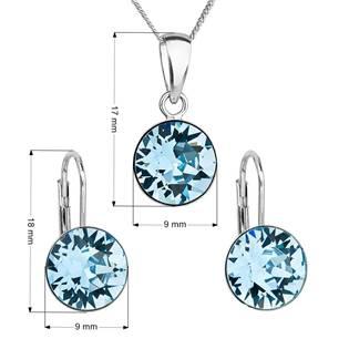 Sada stříbrných šperků s kameny Crystals from Swarovski® Aqua