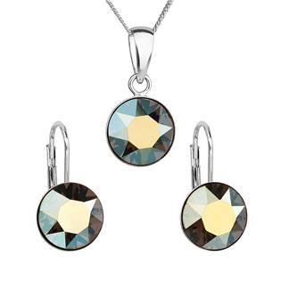 Sada stříbrných šperků s kameny Crystals from Swarovski® Green