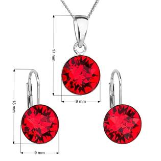 EVOLUTION GROUP CZ Sada stříbrných šperků s kameny Crystals from Swarovski® Siam - 39140.3