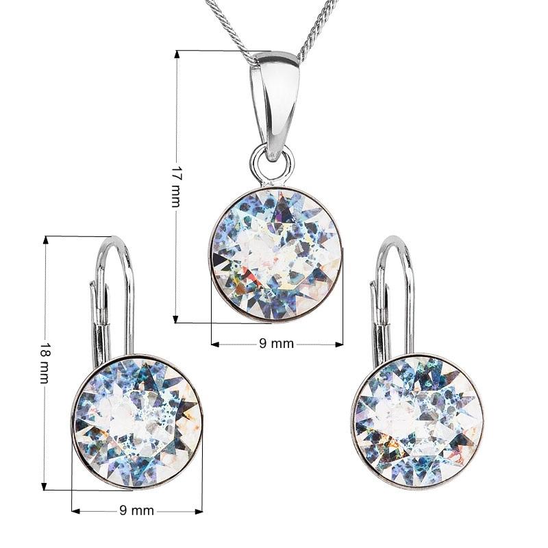 214f6874c Sada strieborných šperkov s kameňmi Crystals from Swarovski ® White Patina