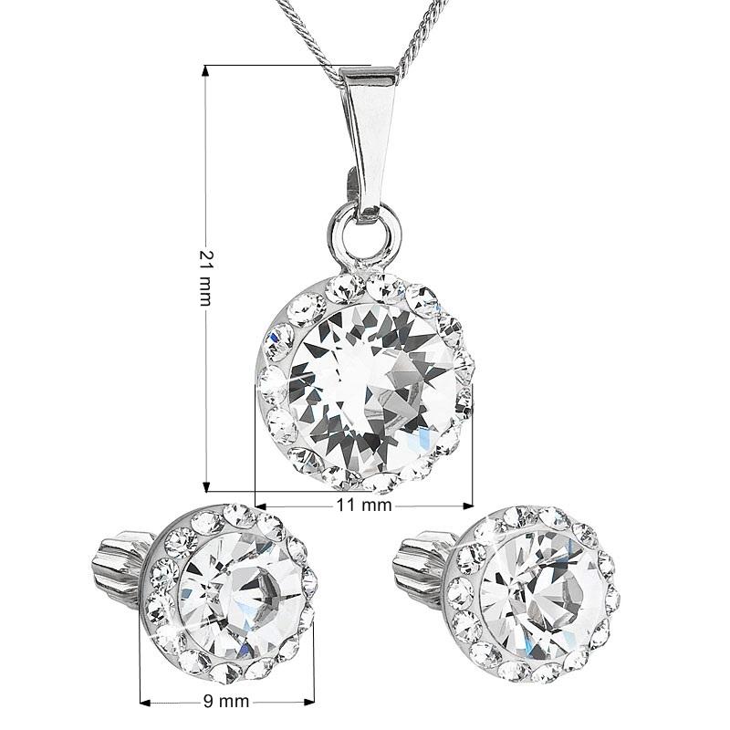 Sada náušníc a prívesku s kamienkami Crystals from Swarovski ® Crystal
