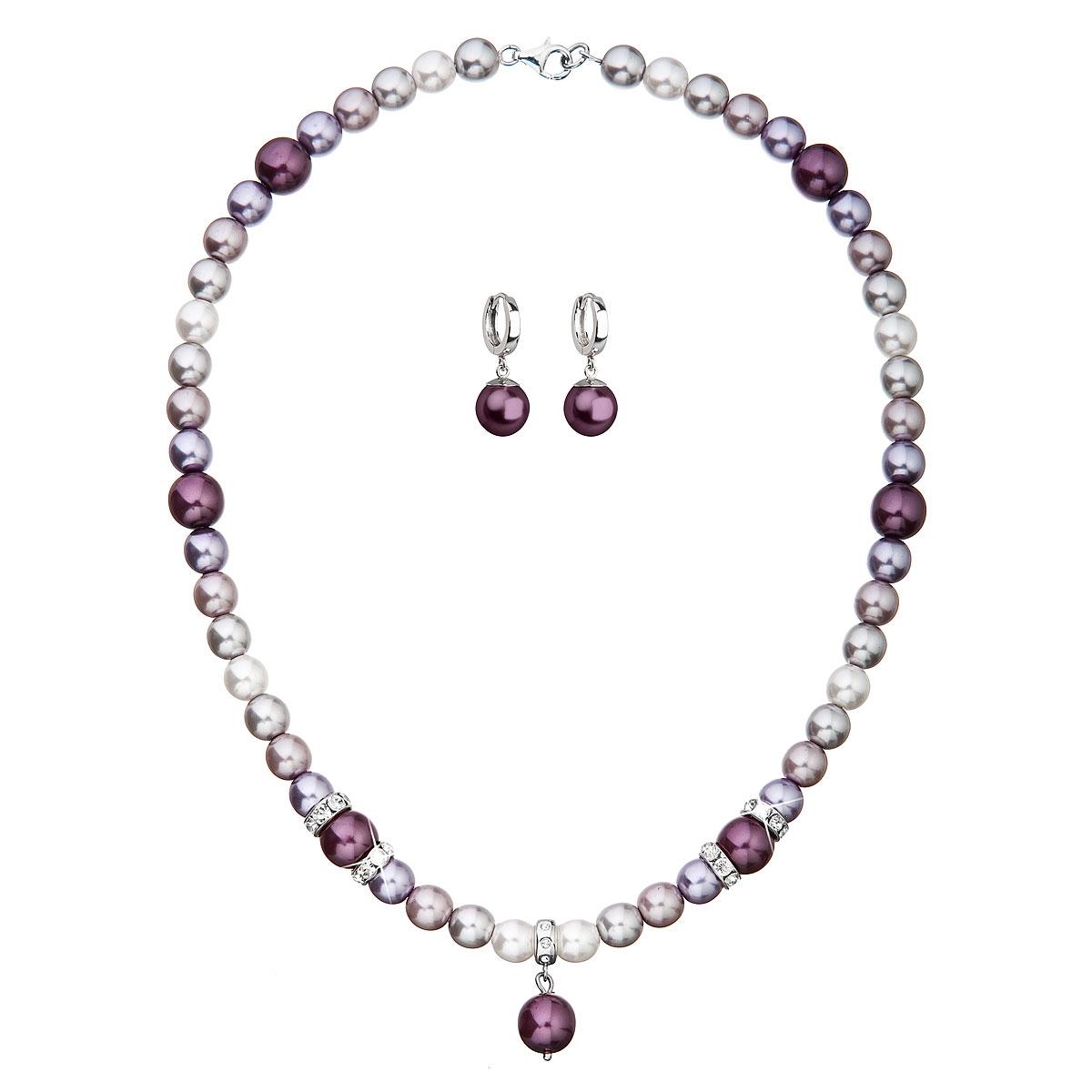 Sada náušníc a náhrdelníka s perličkami Crystals from Swarovski ®