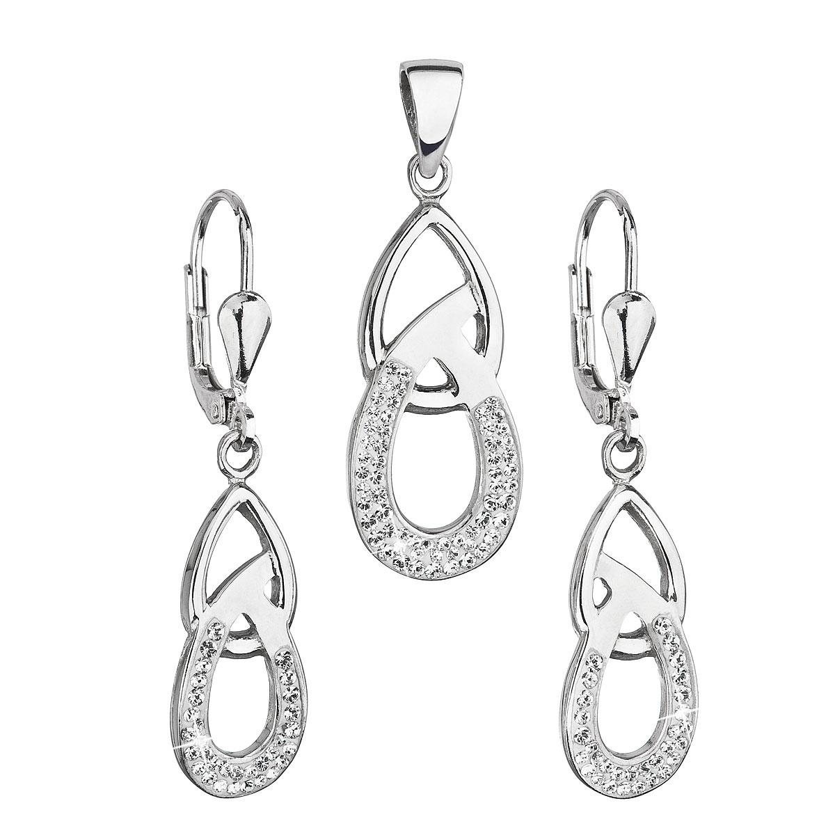 Souprava stříbrných šperků s krystaly Crystals from Swarovski® Crystal