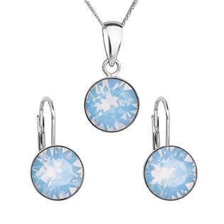 EVOLUTION GROUP CZ Sada stříbrných šperků s kameny Crystals from Swarovski® Blue Opal - 39140.7