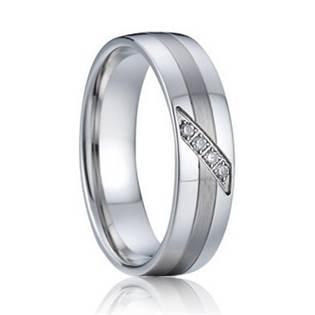 Levně 7AE AN1004 Dámský snubní prsten se zirkony - velikost 50 - AN1004-D-50