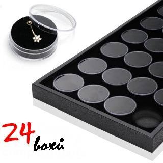 Predkladacia plato na piercing, 24 boxov