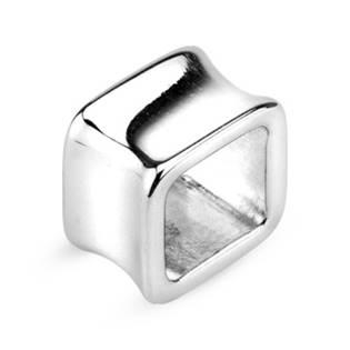 Šperky4U Ocelový tunel do ucha - čtverec - TN01057-18