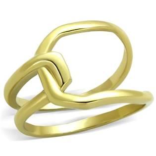 Zlacený ocelový prsten proplétaný