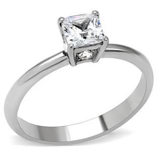 Zásnubní prsten se čtvercovým zirkonem OPR1487