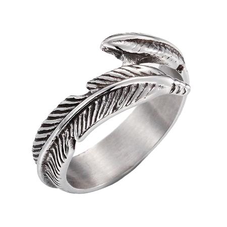 Dámsky oceľový prsteň - pierko