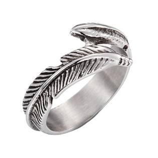 Dámský ocelový prsten - peříčko OPR1120