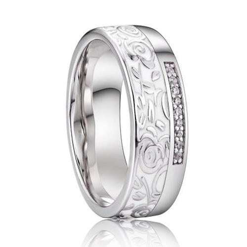 AN1038 Dámsky snubný prsteň, striebro AG 925/1000
