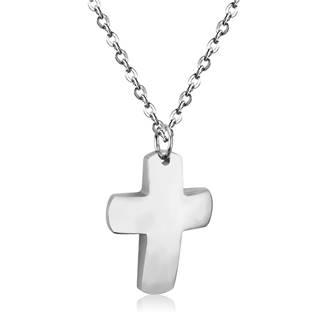Ocelový řetízek, přívěšek kříž