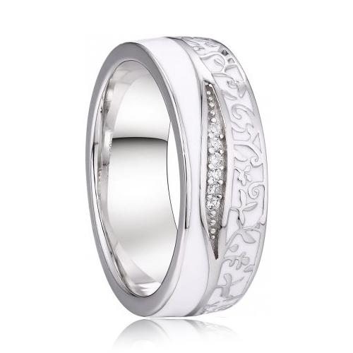 AN1039 Dámsky snubný prsteň, striebro AG 925/1000