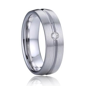 AN1033 Dámsky strieborný snubný prsteň s diamantom striebro, AG 925/1000