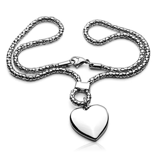 Dámský ocelový náhrdelník - srdíčko OPE1021