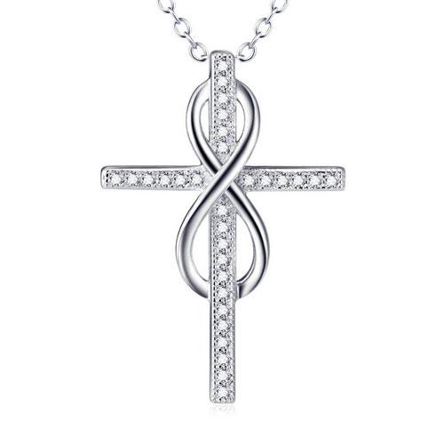 Stříbrný náhrdelník s křížkem AL1047