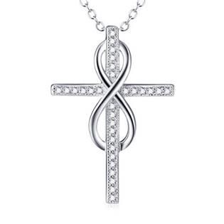 AL1047 Stříbrný náhrdelník s křížkem