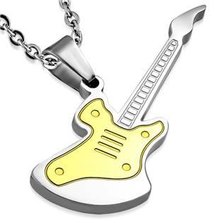 Ocelový přívěšek - kytara