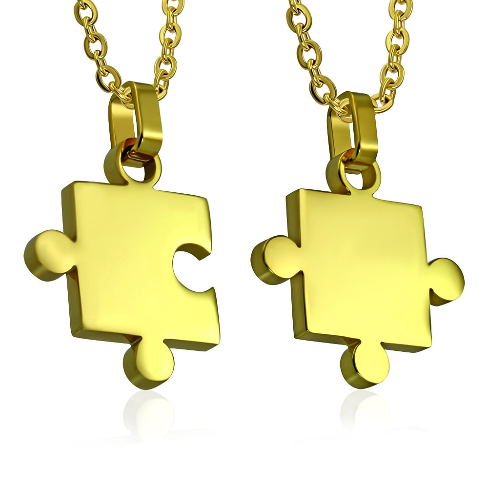 Partnerský přívěšek chirurgická ocel puzzle - 2 kusy