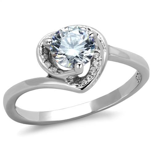 Strieborný prsteň so zirkónmi, veľ. 57