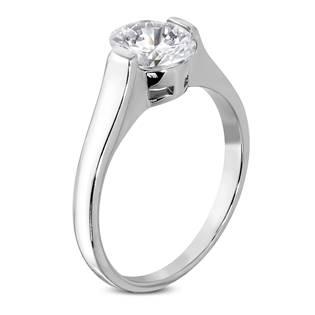 Ocelový prsten se zirkonem OPR1012
