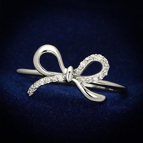 Strieborný prsteň - mašlička