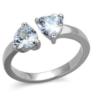Ocelový prsten se zirkony OPR1640