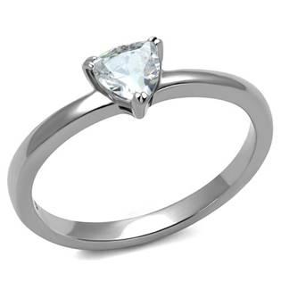 Ocelový prsten s trojúhelníkovým kamenem OPR1044