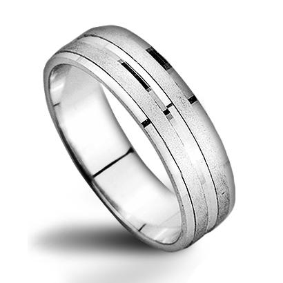 Strieborný prsteň, šírka 5 mm, veľ. 61