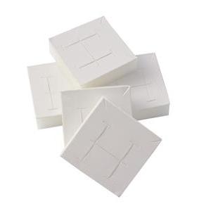 Náhradní polštářky na náušnice/soupravy pro plata řady PV - bílá koženka (24ks)