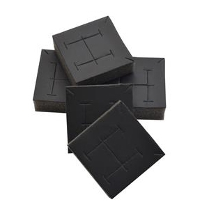 Náhradné vankúšiky na náušnice / súpravy pre plata radu PV - čierna koženka (20ks)