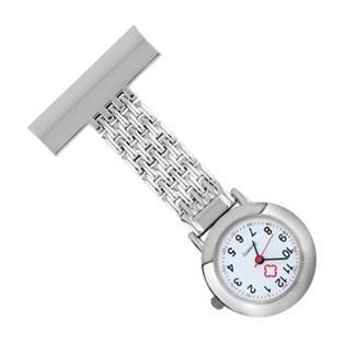 Připínací stříbrné hodinky pro zdravotníky