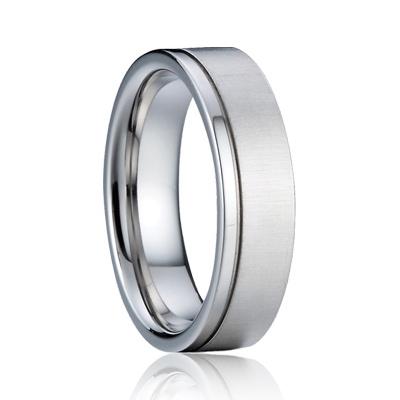 Pánsky strieborný snubný prsteň, šírka 5 mm