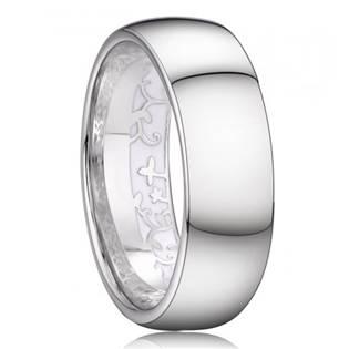 AN1037 Pánský stříbrný snubní prsten šíře 7 mm