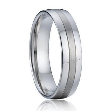 Strieborný snubný prsteň, šírka 6 mm