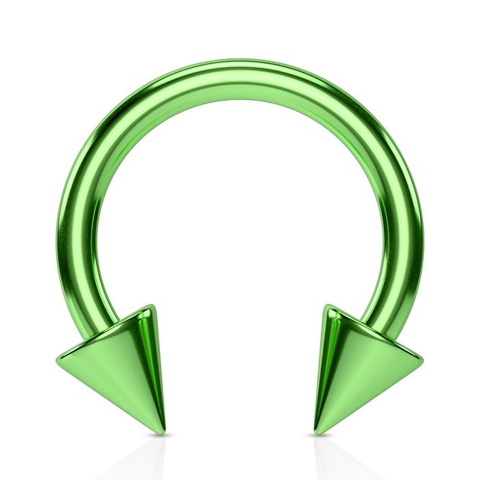 Podkova zelená, 1,2x10 mm, kónus 4x4 mm
