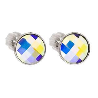 Stříbrné šroubovací náušnice s Crystals from Swarovski® AB EG2017-AB