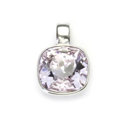 Strieborný prívesok s kameňom Crystals from SWAROVSKI®, farba: Violet