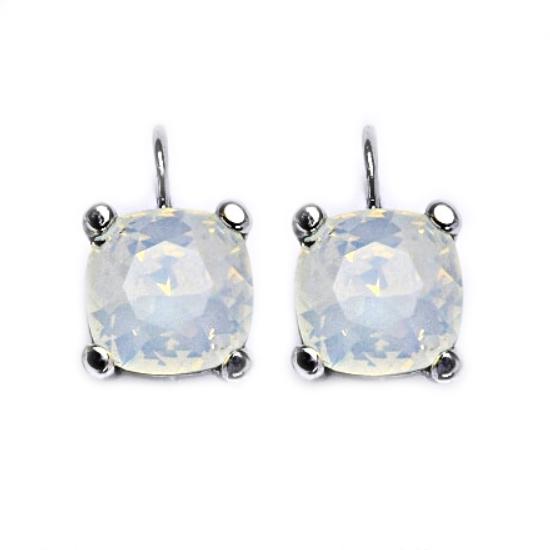 Stříbrné náušnice s kameny Crystals from Swarovski®, barva: WATER OPAL CS5642-WO