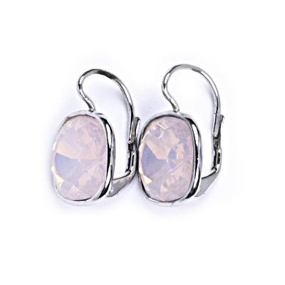 50f4a599f Strieborné náušnice s kameňmi Crystals from Swarovski ®, farba: ROSE WATER  OPAL