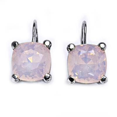 Stříbrné náušnice s kameny Crystals from Swarovski®, barva: ROSE WATER OPAL CS5642-RWO
