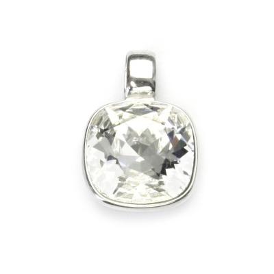 Strieborný prívesok s kameňom Crystals from SWAROVSKI®, farba: CRYSTAL